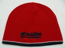 BOSTON, MASSACHUSETTS - EMBROIDERED - ONE SIZE STOCKING CAP BEANIE HAT!