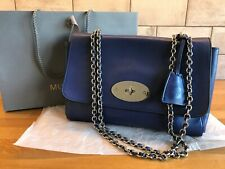 Mulberry Medium Lily in Indigo Blue Signature Cross Body Bag   Authentic   e6cf8326baa01