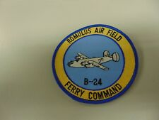 MILITARY PATCH SEW ON OLDER B-24 ROMULUS AIR FIELD FERRY COMMAND
