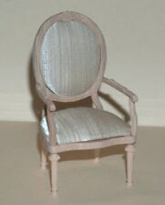 Hansson 1:12 Dollhouse Unfinished armchair - Sedia con braccioli grezza