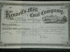 Kennell's Mill  Coal Co.  1870's Mint !!   Free Shipping !!