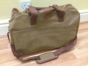 2 x New Brown Faux Leather Travel Bags Holdalls Luggage