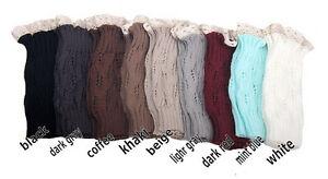 Fashion Women's Knitted Lace Trim Boot Cuffs Leg Warmer Socks Pick wholesale-lot