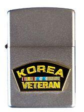 Korean War Veteran Lighter (Satin Chrome) (ZL001) Refillable Lighter 23278