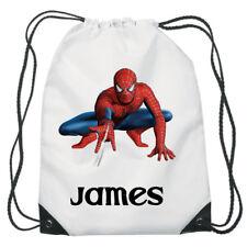 Spiderman Coulisse Nuoto, scuola, PE Borsa Per Ragazze Personalizzato