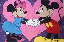 """T Lighthouse """"Mickey and Minnie"""" Original One Of Kind Acrylic Painting On Canvas"""