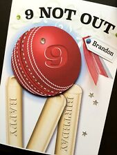 Personalised Handmade 'CRICKET BALL' Birthday Card
