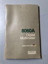 Fluke 8060a Digital Multimeter Instruction Manual