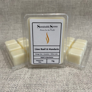 Soy Wax Melt Tart Clam Shell Handmade Super Strong Scented - Multi Listing