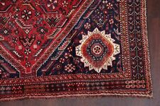 One-of-a-Kind ANTIQUE Geometric Tribal Lori RED Area Rug Hand-made Wool 6'x9'