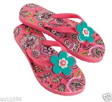 NWT Vera Bradley Flip Flops in Call Me Coral Rubber Sandals 11198 056 S 5-6