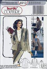 Burda Couture Sewing Pattern 4912 Career Jacket Skirt Coat Sizes 10 - 20 NEW
