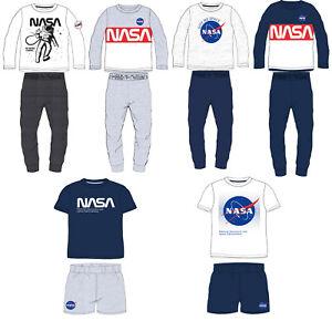 BOYS NASA PYJAMAS PJS SPACE SHORT LONG COTTON