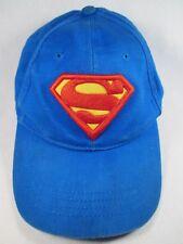 Superman DC Comics Blue Youth Size Adjustable Baseball Cap Hat