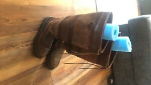 dubarry womens boots brown leather gore-tex water proof great shape high end