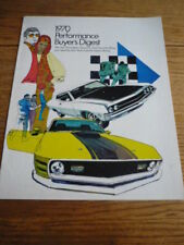 FORD 1970 PERFORMANCE BUYERS BROCHURE, 1970