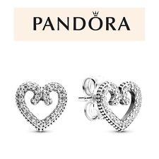 Pandora Heart Swirls Stud Earrings