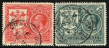 SG 121 & 123 BRITISH HONDURAS 1921-22 -2c ROSE-RED & 4c SLATE - USED