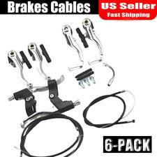 New Brakes Cables(front+rear)Caliper + Brake Levers V Set For BMX Mountain Bike