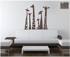 6 x Giraffe Safari Wall Sticker Vinyl Decal Wall Art Transfer Living Any Room