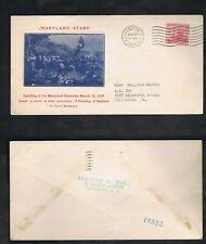 Deceased Estate 1934 FDC #736-40 MARYLAND TERCENTENARY CACHET