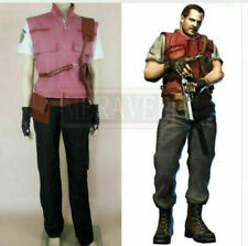 New! Resident Evil 5 Barry Burton Anime Uniform Cosplay Costume NN.3286