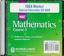 HOLT MATHEMATICS COURSE 3:  IDEA WORKS SPECIAL EDUCATION ON CD - NEW!