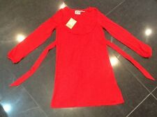 NWT JUICY COUTURE Nuevo & genuino Rojo Mezcla De Algodón Vestido niña Edad 8