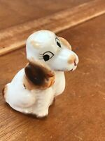 Vintage Made in Japan Cute Brown & White Sitting Springer Spaniel Puppy Dog Porc