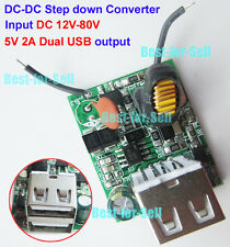 5V 2A Dual USB Charger DC 12V 24V 36V 48V 60V 72V Buck Step down Power Konverter