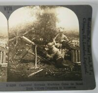 WW1 Keystone Stereoview Card #w238 v19268 Captured German Machine Guns