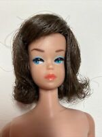 Vintage Miss Barbie Fashion Queen Doll Sidepart Brunette Wig (Wig Only)