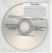 (GI370) A Day To Remember, This Is The House That Doubt Built - DJ CD