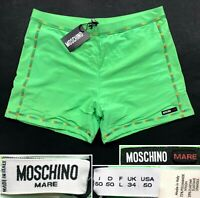 MOSCHINO MARE NWT SQUARE SWIM BRIEFS MENS SWIMSUIT LINED MADEin ITALY EUR50 US M