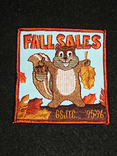 """Girls Scouts Fall Sales GSJTC 1995 & 1996 Girl Scouts SquarePatch NEW  3.5""""x3"""""""