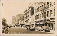 Street Scene in Spokane WA RP Postcard Coca-Cola