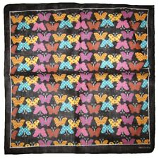 "Wholesale Lot of 12 Multi-Color Butterfly Black 100% Cotton 22""x22"" Bandana"