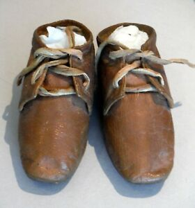 Antique Unusual Child's Leather Shoes, No Left-Right 19th c P1508