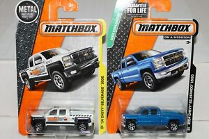 MATCHBOX #59 AND #118 2014 CHEVY SILVERADO 1500 LOT OF 2