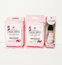 Bolero Beverly Hills Rose+Coconut Facial Wipes 60 & Facial Serum Micellar Water