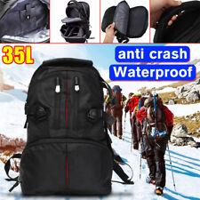 35L Large SLR DSLR Camera Backpack Organizer For Canon For Nikon Waterproof US