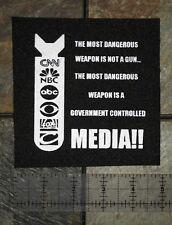 Anti Media Patch - Anarcho Punk Anarchy Human Liberation Government corporation