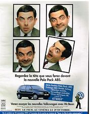 Publicité Advertising 1997 VW Volkswagen Polo avec Mr Bean