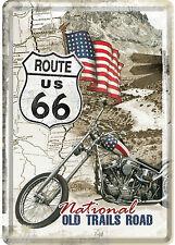 genre nostalgique CARTE POSTALE en tôle/métal 10x14 cm Route 66 NATIONAL OLD