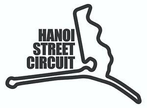 HANOI STREET CIRCUIT. Car vinyl sticker F1 Vietnam Grand Prix Formula One