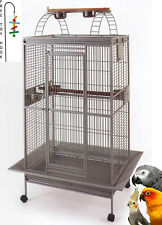 Large Open Play-Top Parrot Rolling Wrought Iron Macaw Conure Cage With Toy Hook