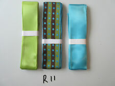 R11 Job Lot 3 Ribbons, Brown, Green and Blue