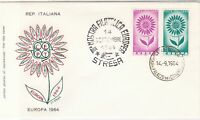 Europa Italy 1964 Europea Stamps Slogan cancel Flower Pic FDC Stamps Cover 25977