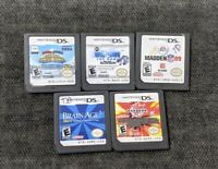 Nintendo DS lot of 5 Games - Brain Age 2, Mario & Sonic, Wipeout, Bakugan & more