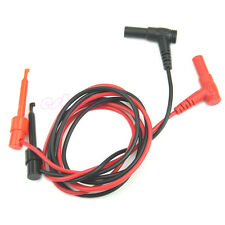 Banana Plug To Test Hook Clip Probe Cable For Multimeter Test Equipment Wq